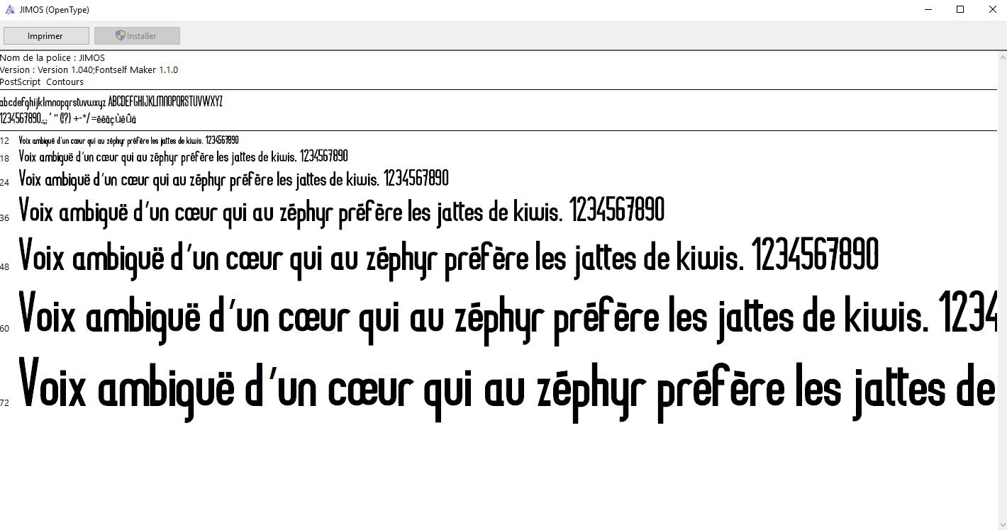 JiMOS Création typographique