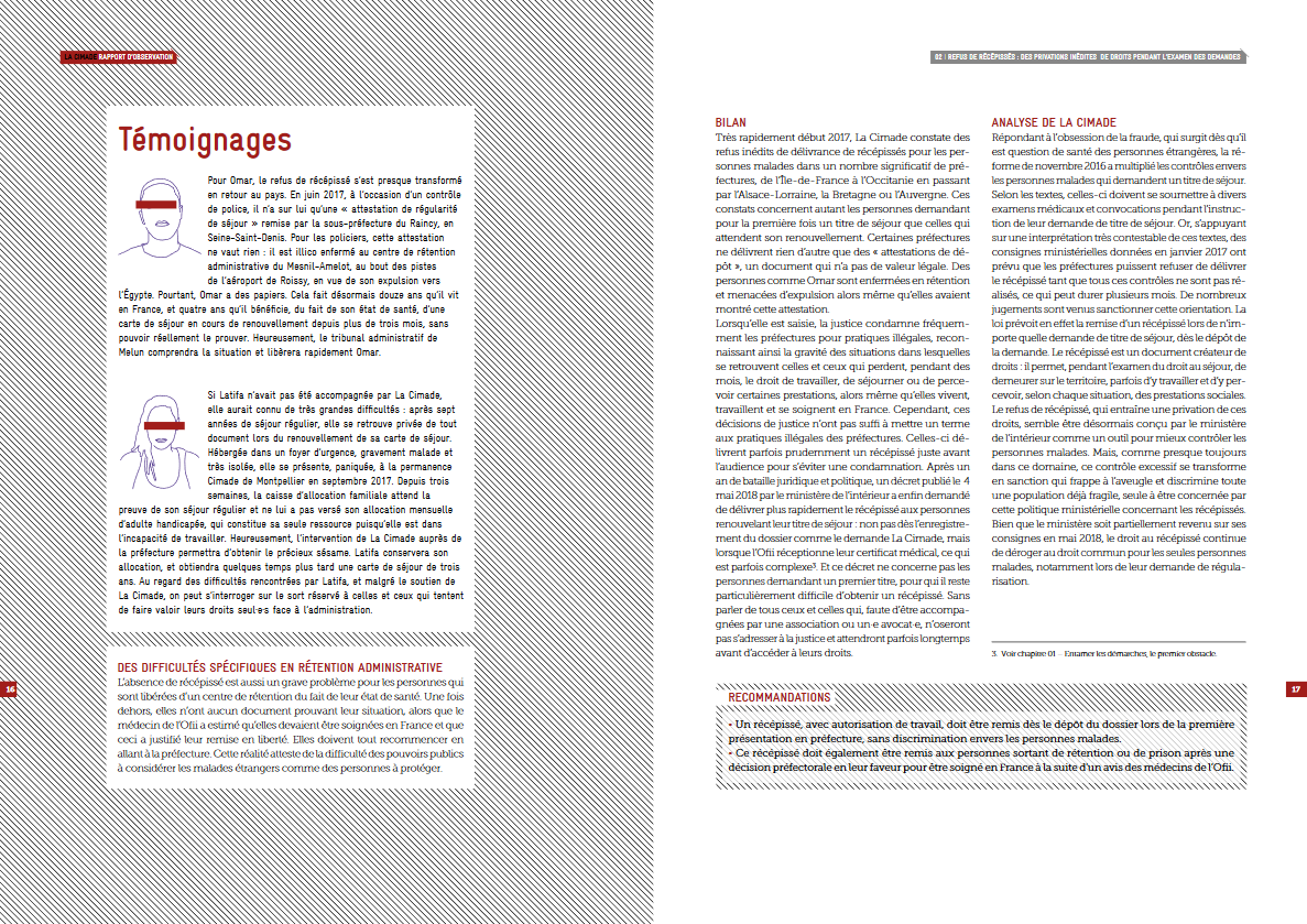 Double page Rapport