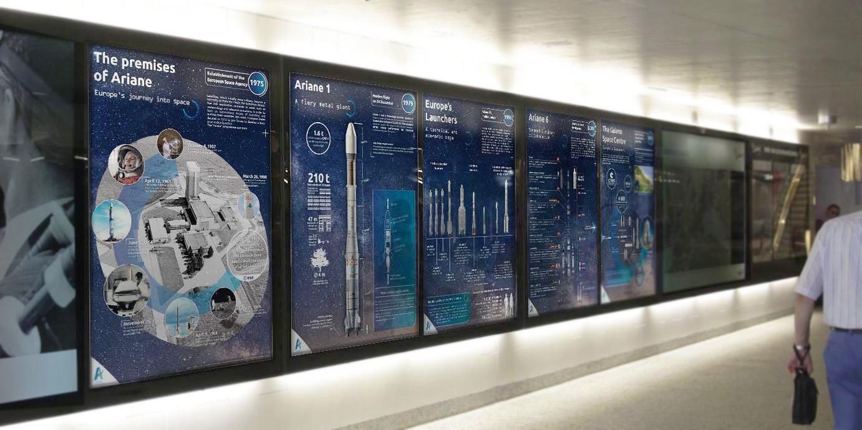 Exposition itinérante sur l'histoire de la fusée Ariane